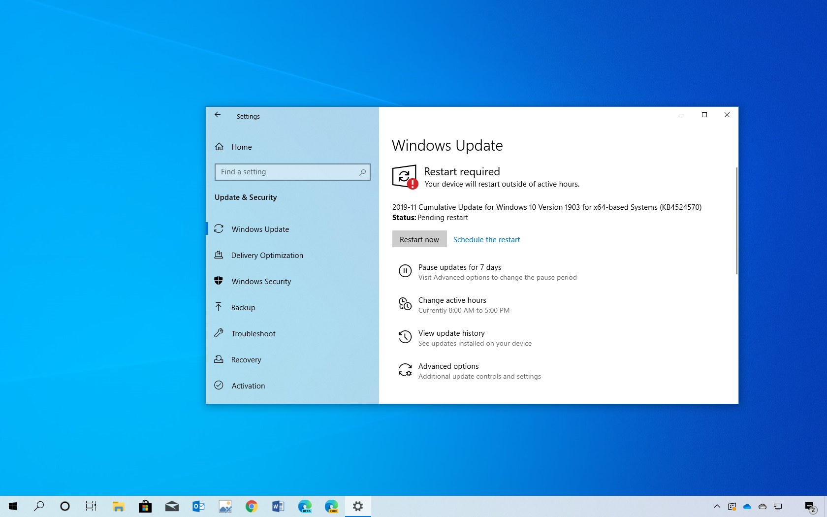 KB4524570 update for Windows 10 download