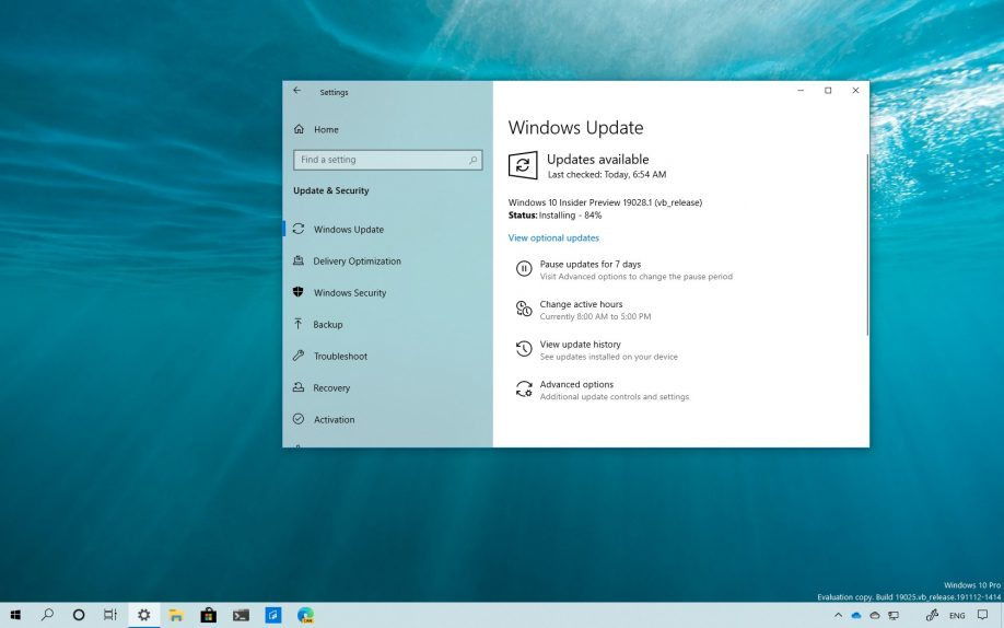 Windows 10 build 19028 download