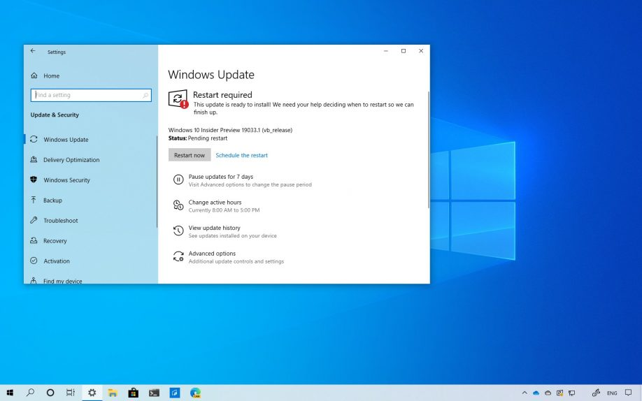 Windows 10 build 19033 download