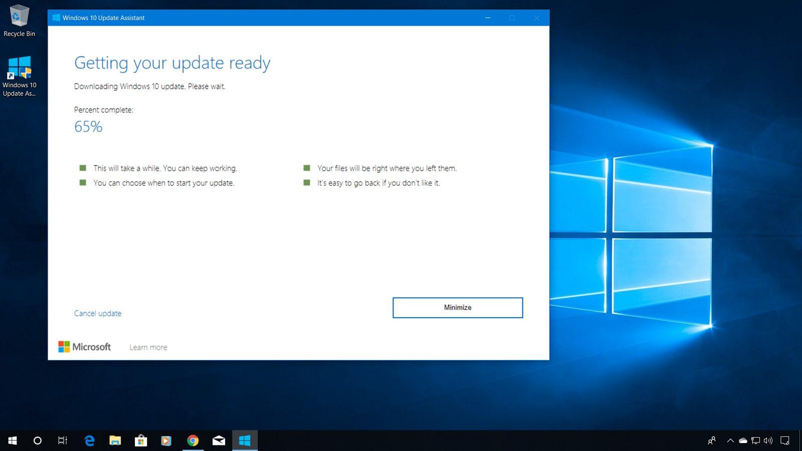 Windows 10 1909 Update Assistant