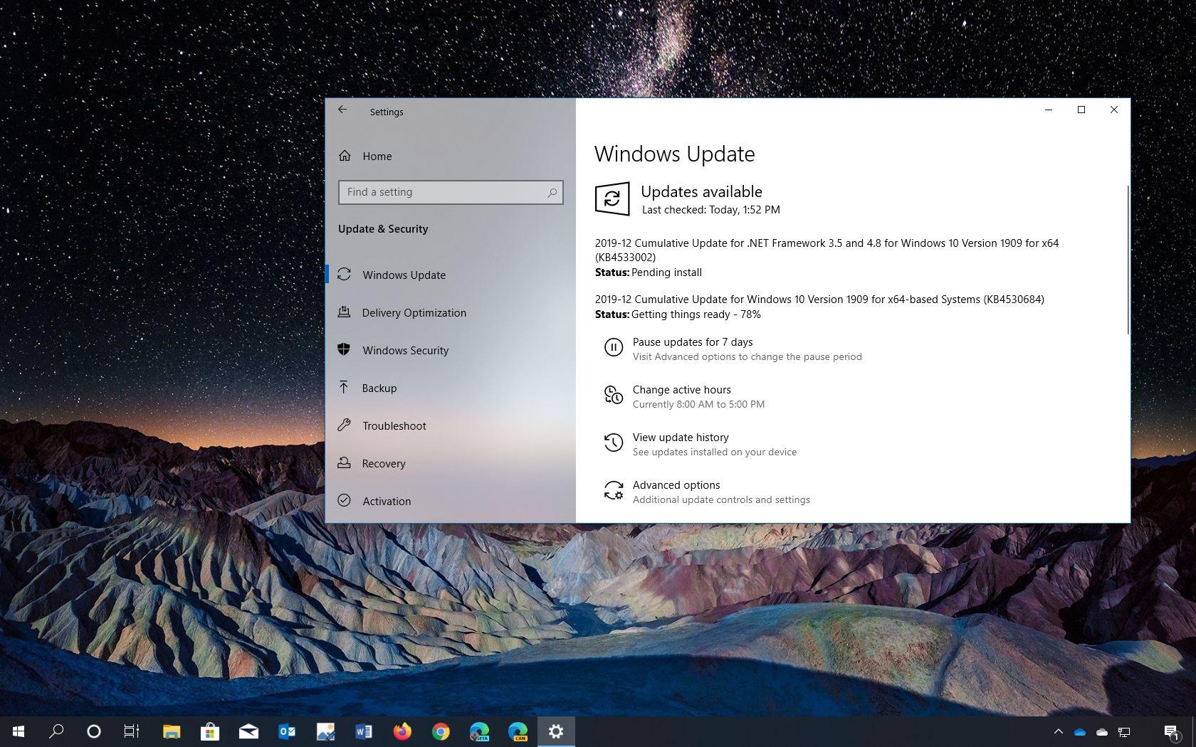 Windows 10 update KB4530684 download