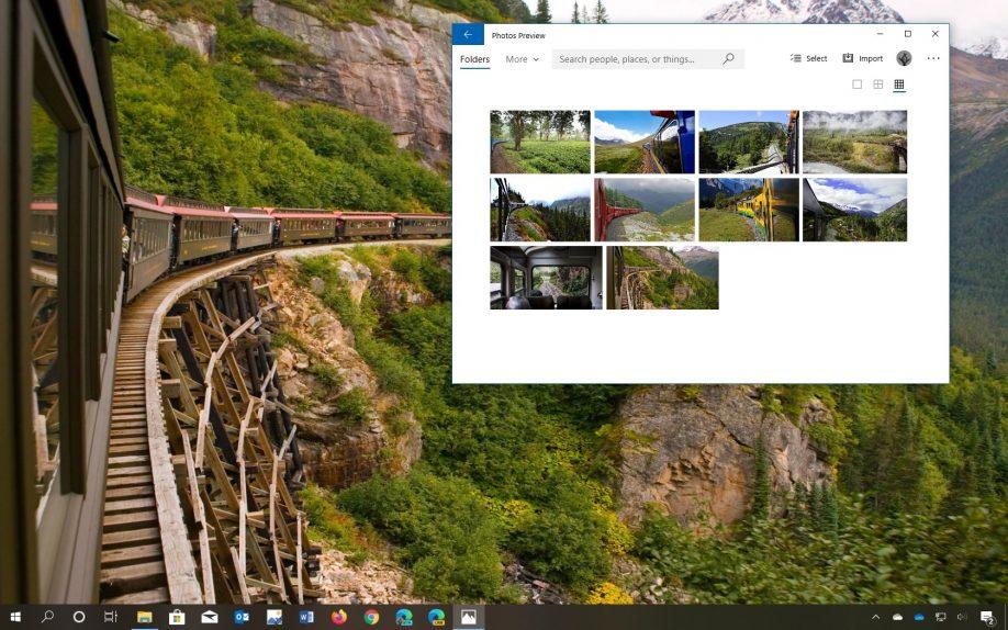 Panoramic Train Views theme for Windows 10