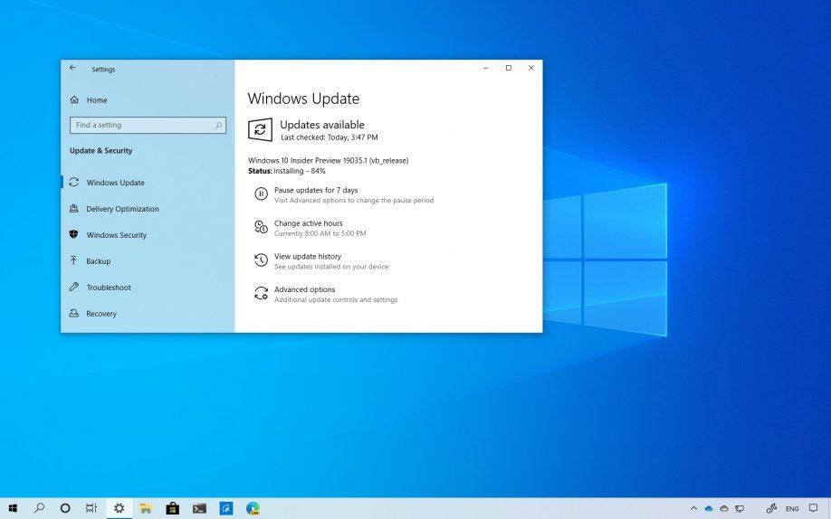 Windows 10 build 19035 download