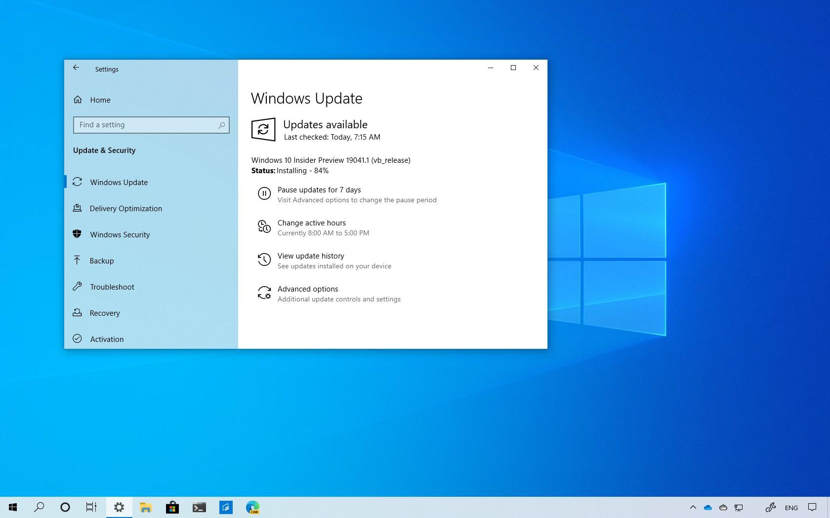 Windows 10 build 19041 download