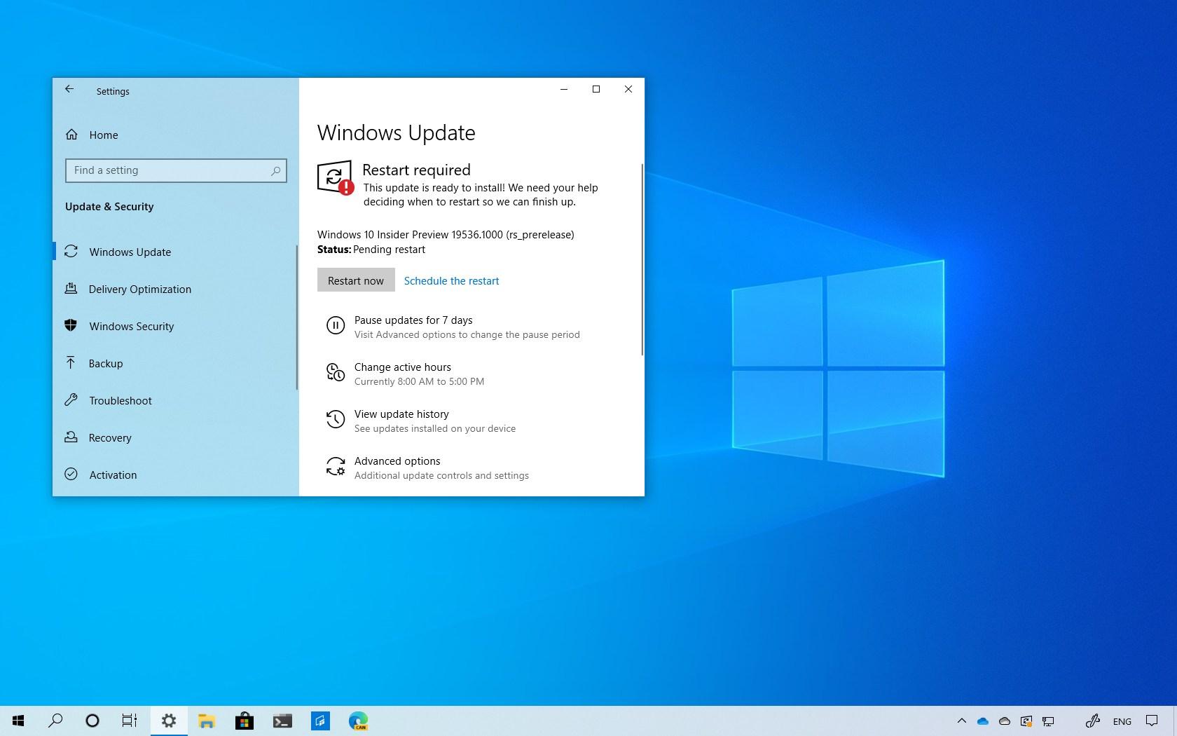 Windows 10 build 19536 download