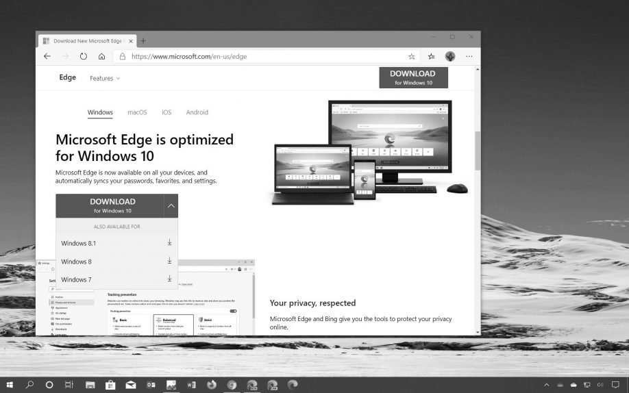 Microsoft Edge Chromium download in the Weekly Digest