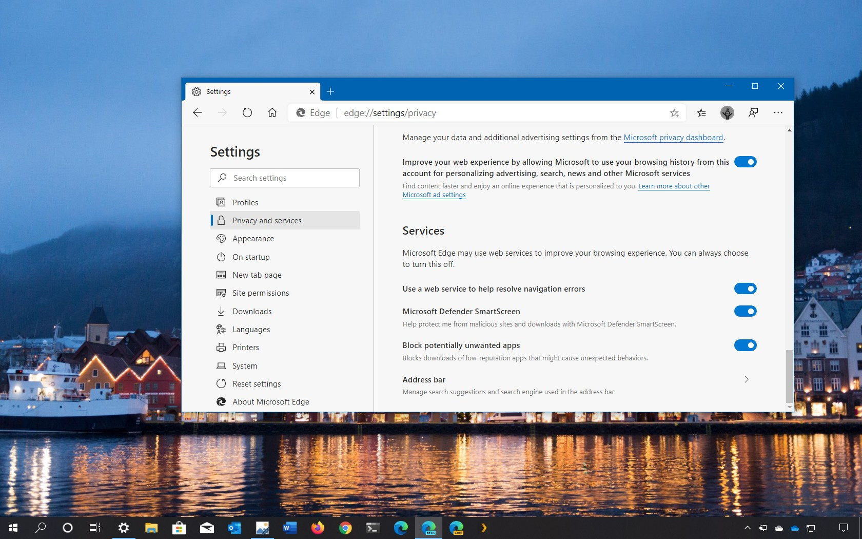 Microsoft Edge Chromium block potentially unwanted apps downloads