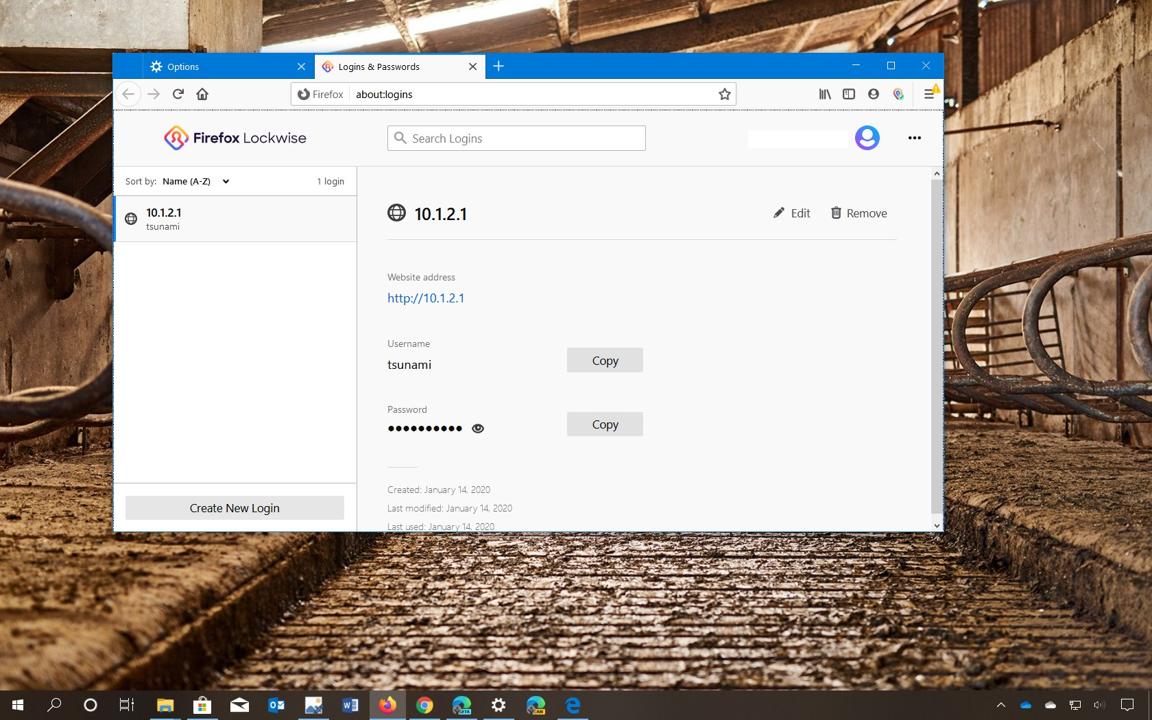 Firefox show saved passwords settings