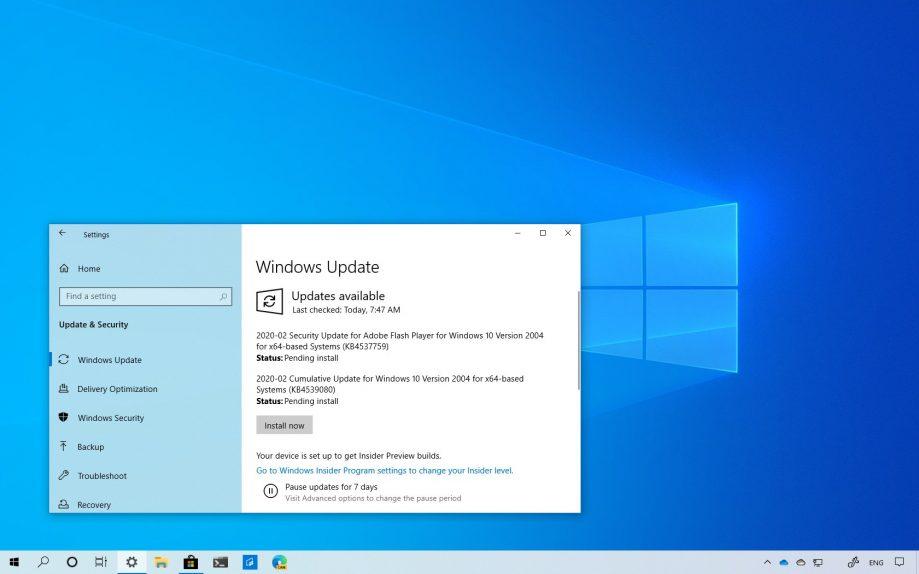 Windows 10 build 19041.84 download