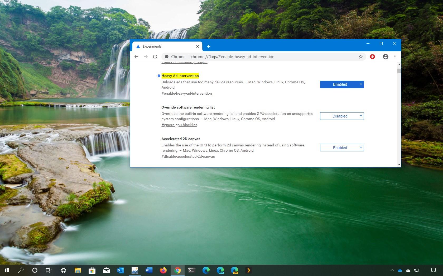 Chrome Heavy Ad Intervention option