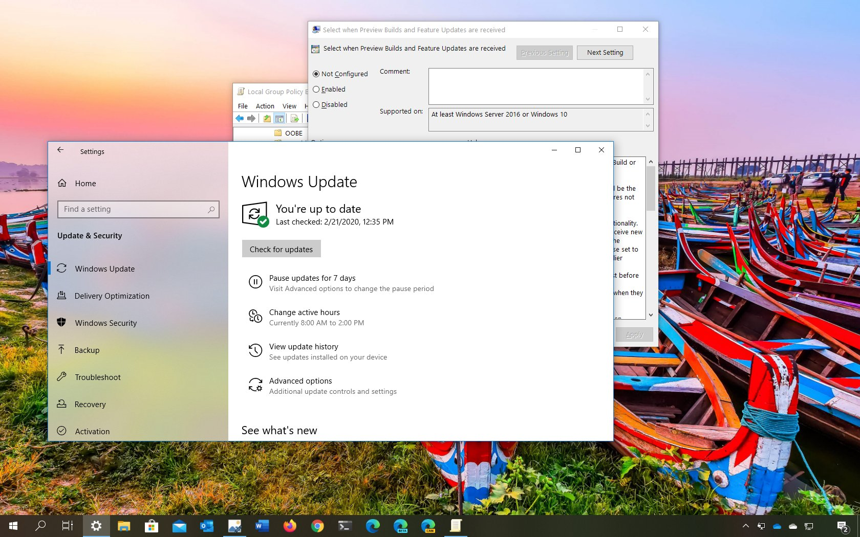 Windows 10 version 2004 blockers