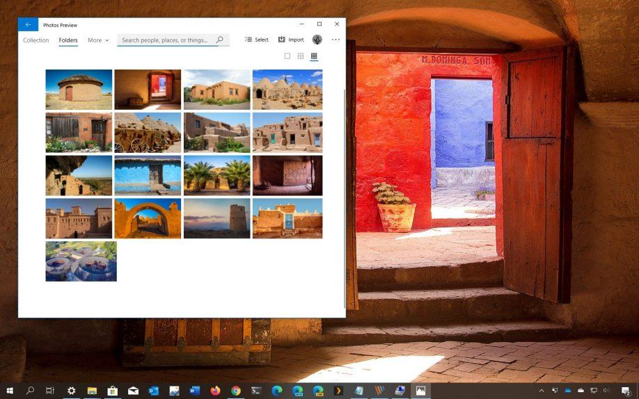 Earthen Buildings theme for Windows 10