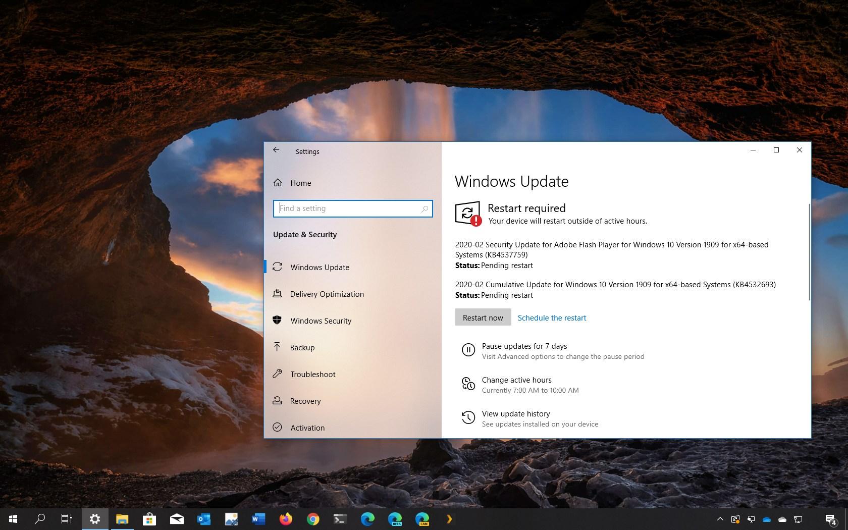 Windows 10 update KB4532693 download