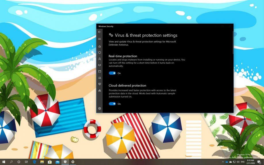 Microsoft Defender ATP on Windows 10