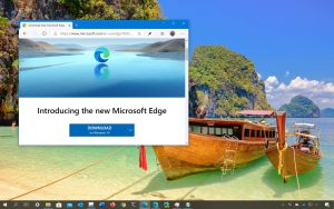 Microsoft Edge Chromium available on Windows Update