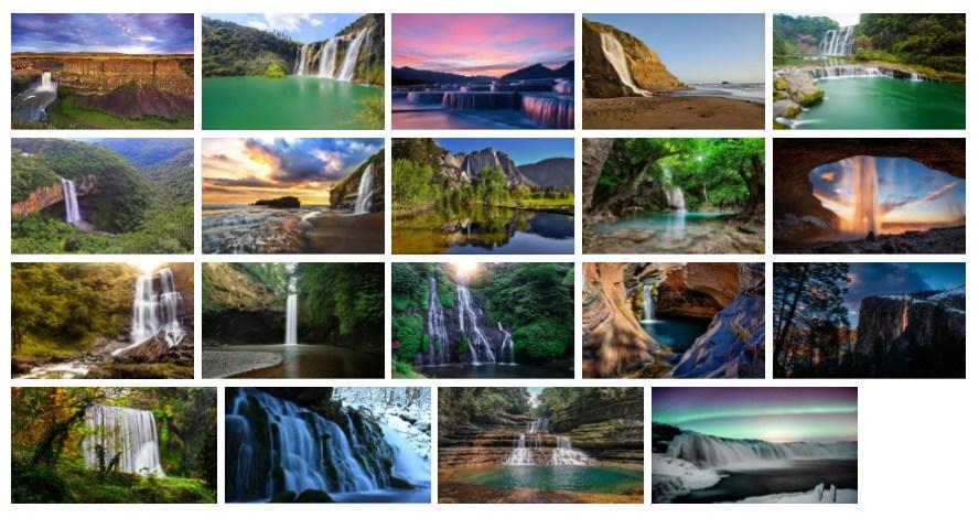 Stunning Waterfalls wallpaper sample