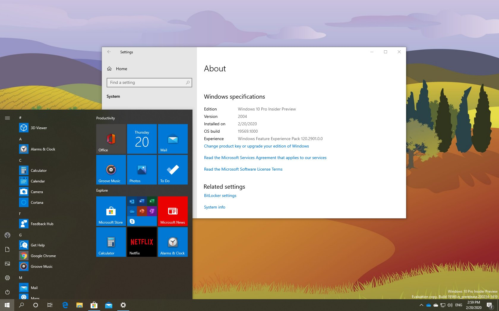 Windows 10 build 19569 with new icons