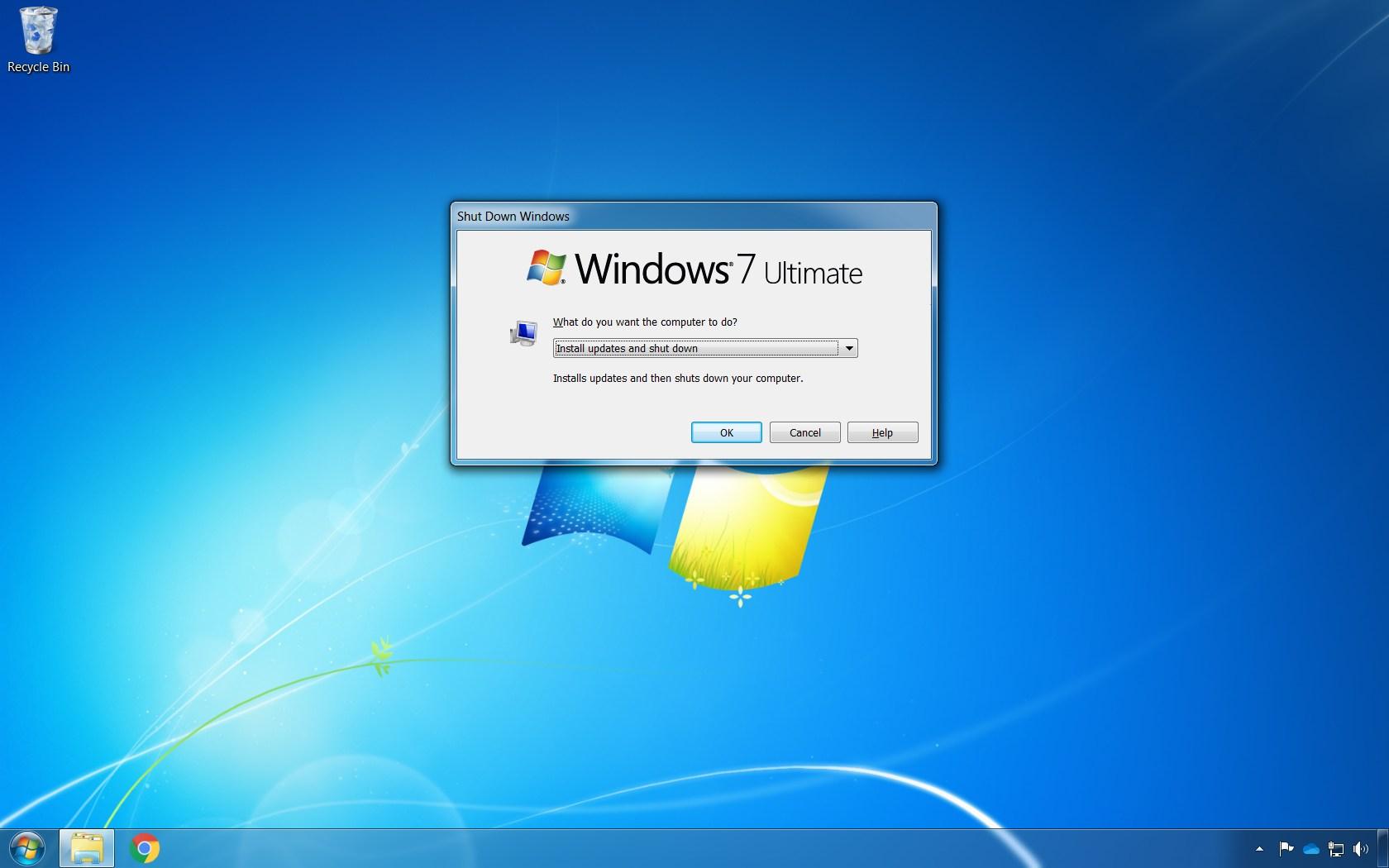 Windows 7 shutdown fix