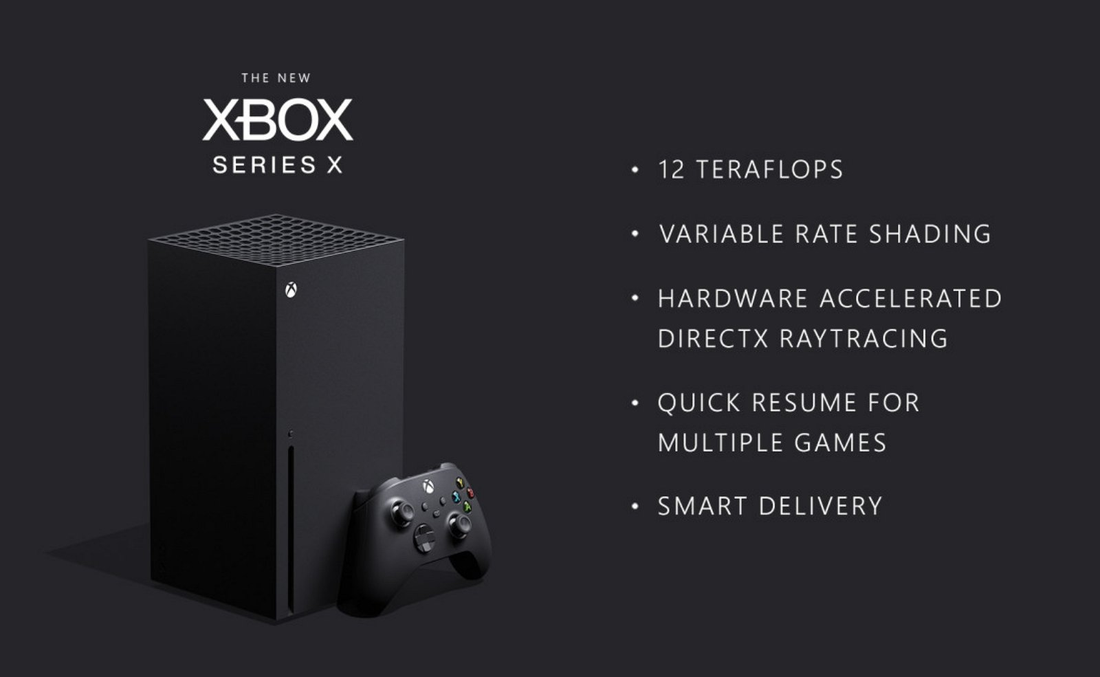 Xbox Series X with best features list (source: Microsoft)
