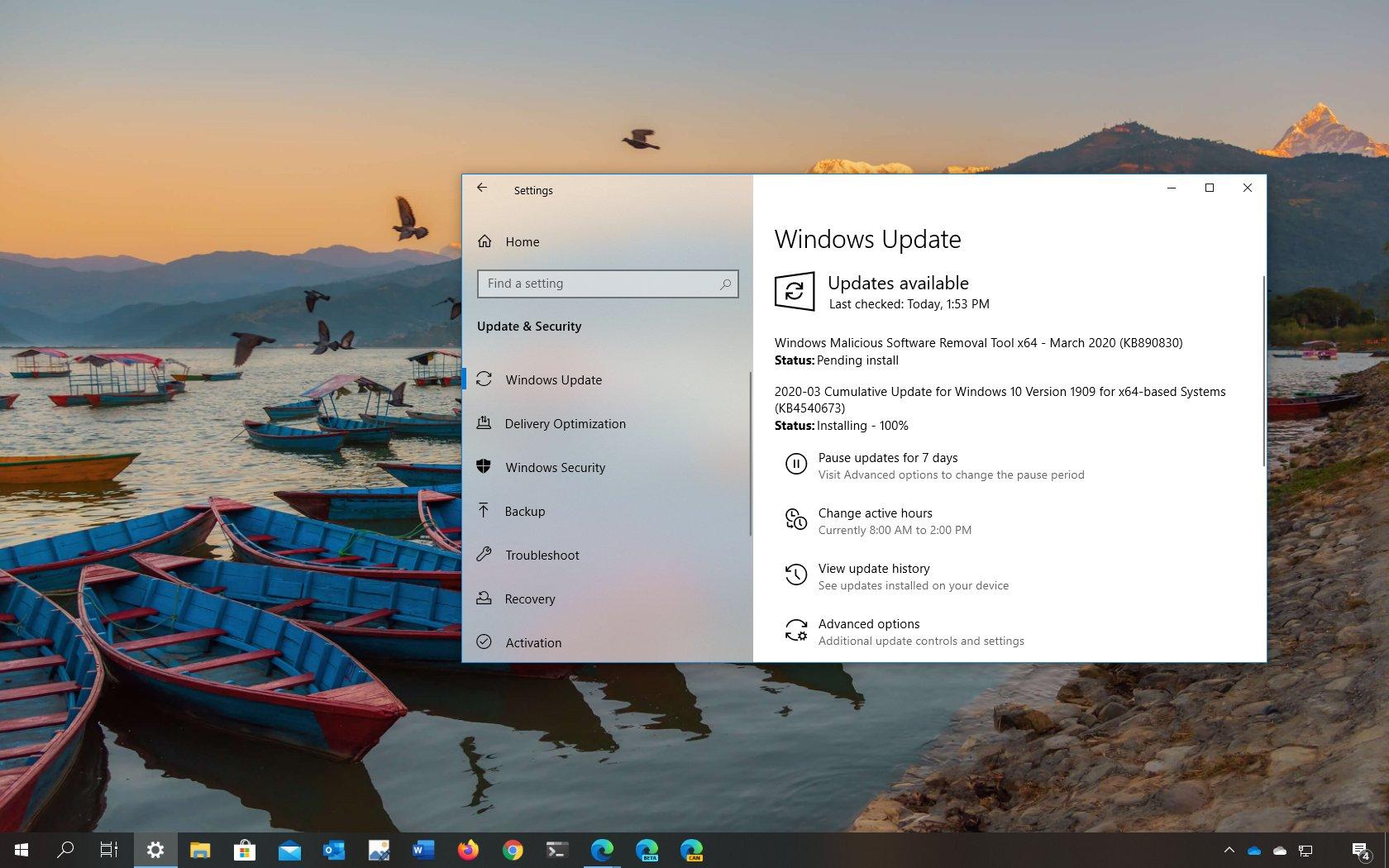 Windows 10 KB4540673 download