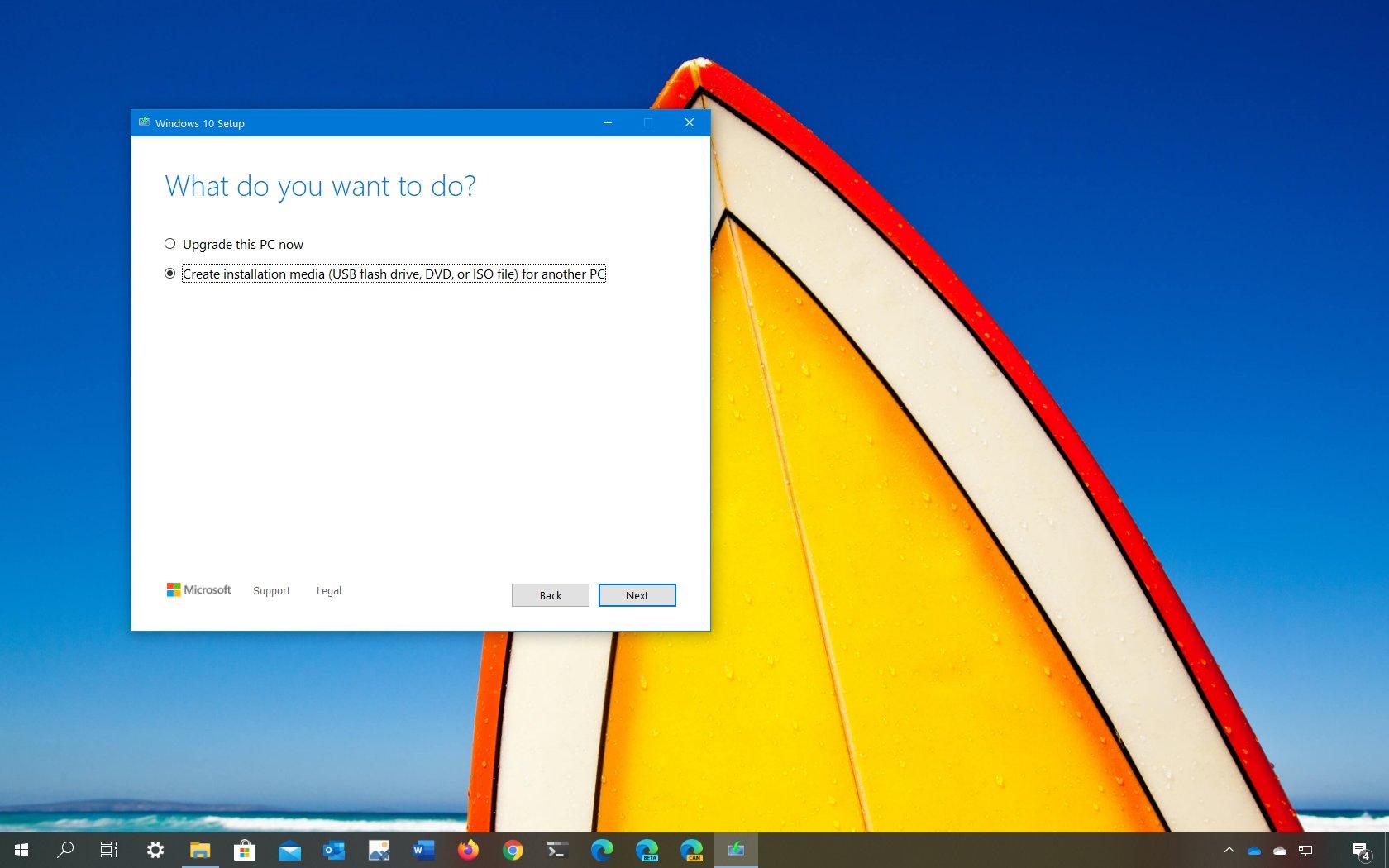 Windows 10 version 2004 clean install