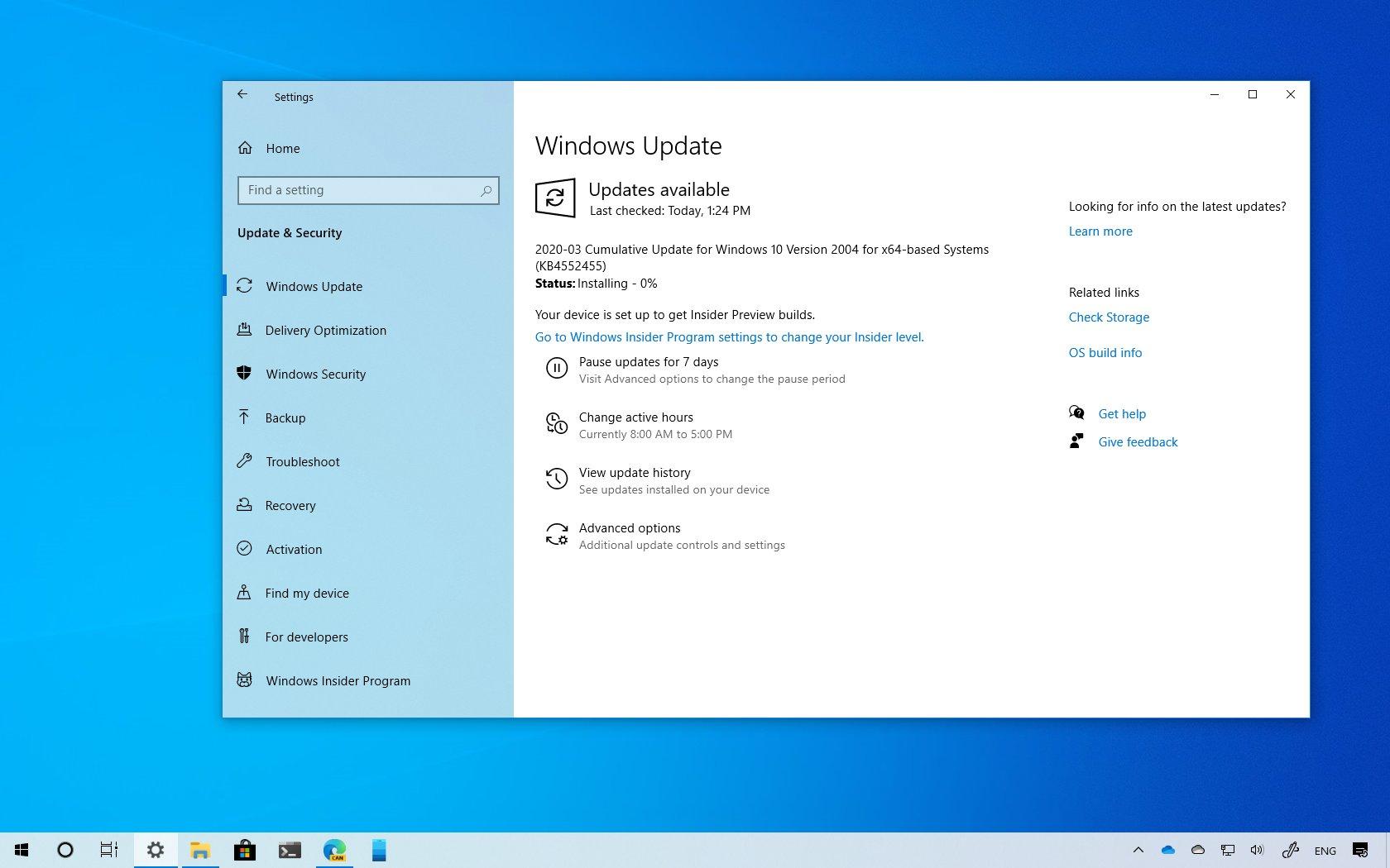 KB4552455 for Windows 10 download