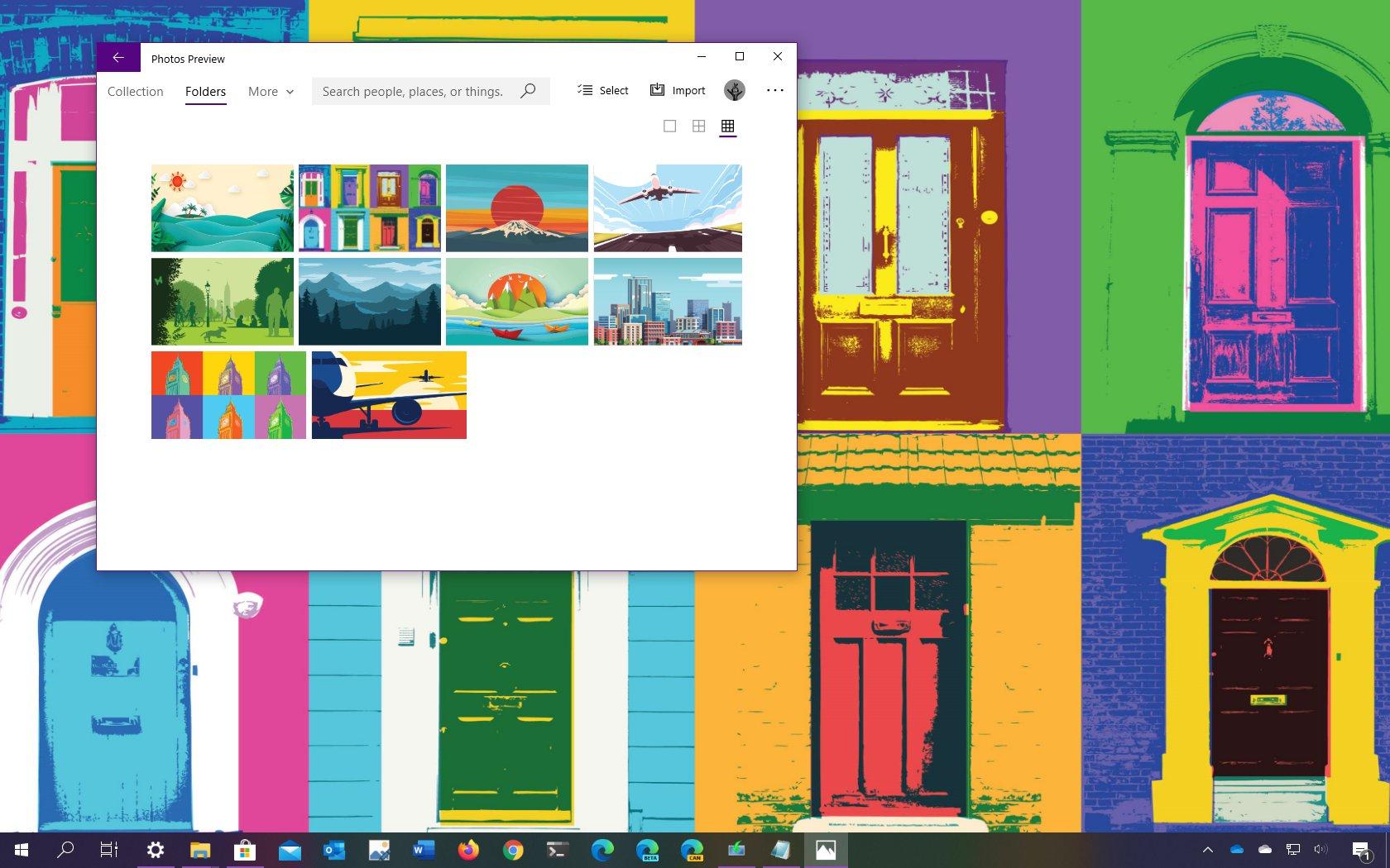 Vector Art theme for Windows 10