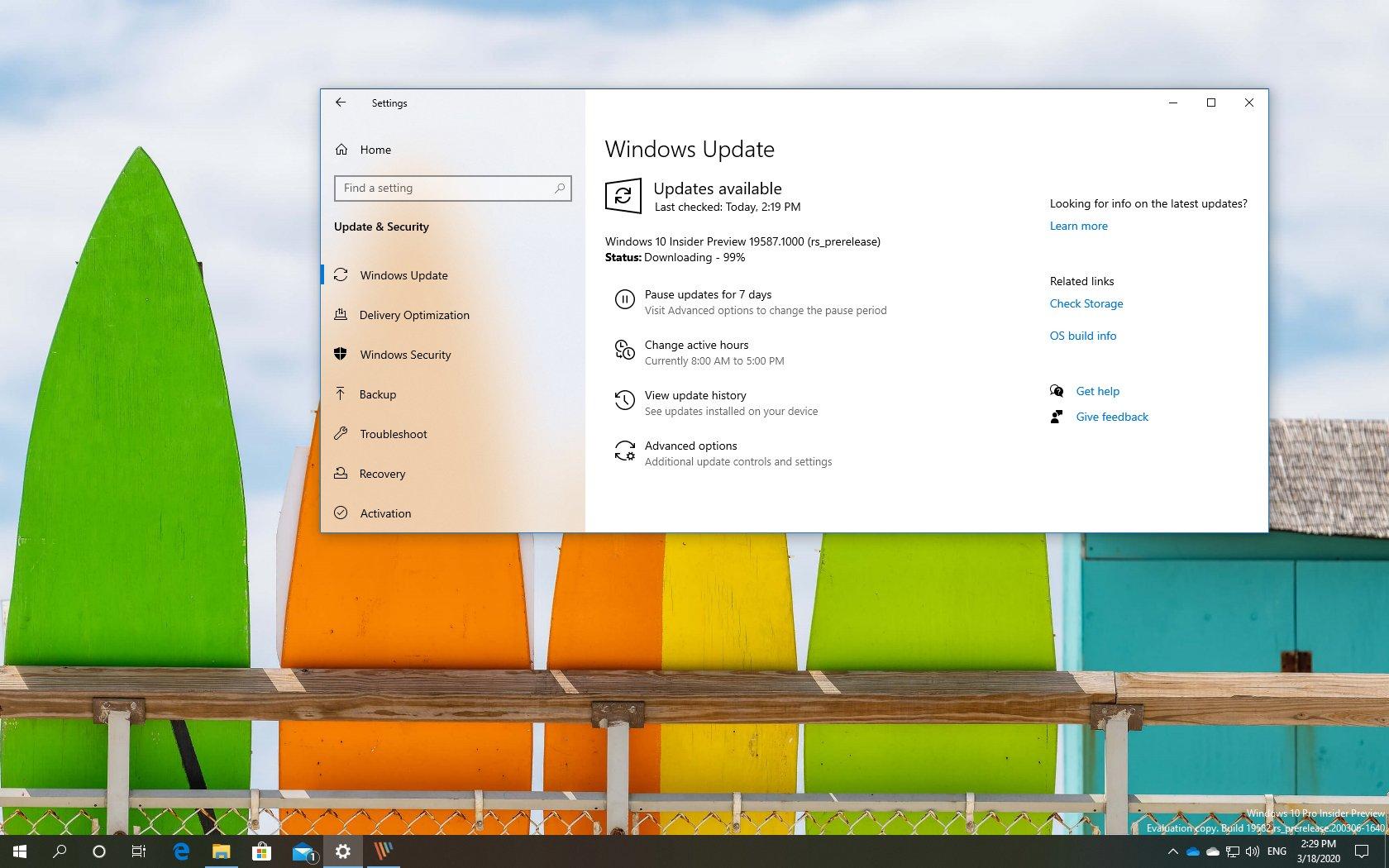 Windows 10 build 19587 download