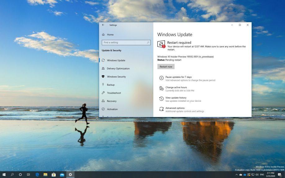 Windows 10 build 19592 download