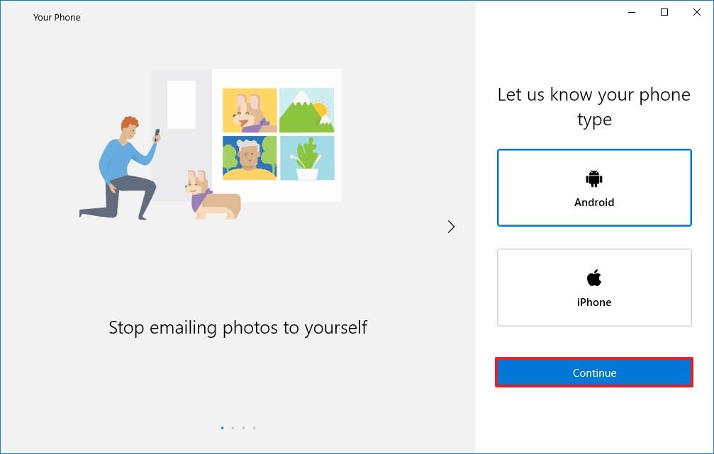 Windows 10 Your Phone setup